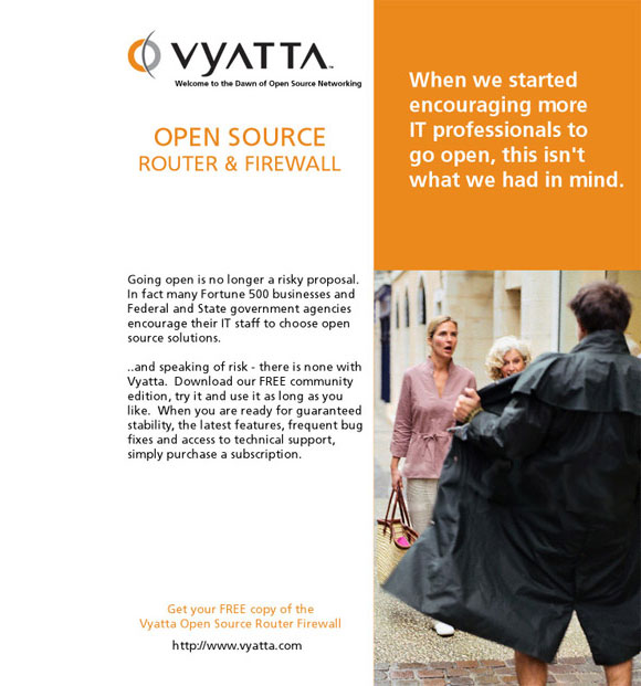 Vyatta Advertisements Not Fit for Print