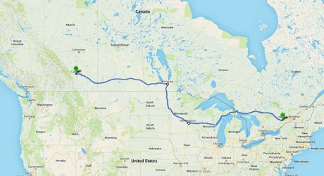 Driving Across Canada and the US