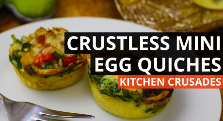 Crustless Mini Egg Quiches with A Whole Lotta Zang