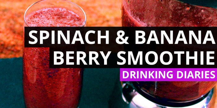 Spinach and Banana Berry Smoothie