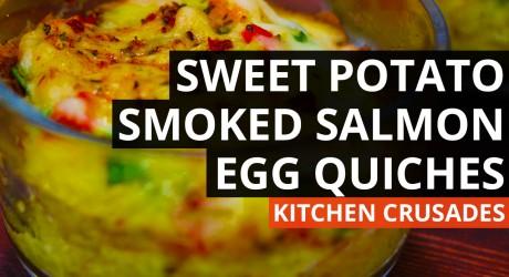 Sweet Potato & Smoked Salmon Egg Quiches